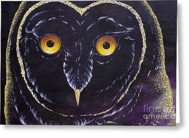 Dreamcatcher Owl Eyes Greeting Card