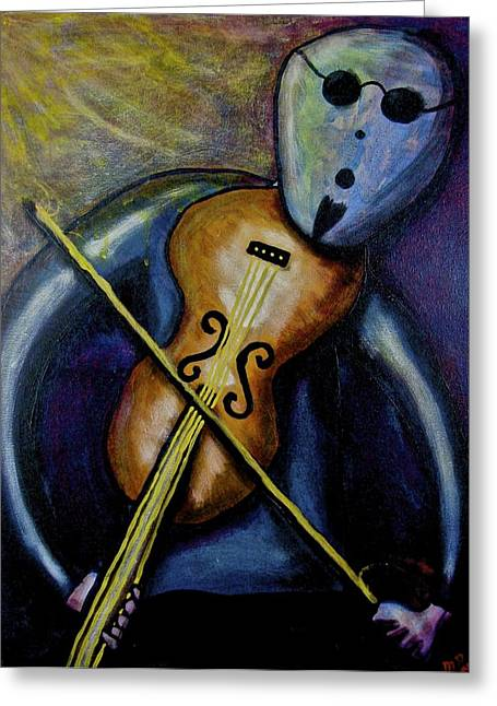 Greeting Card featuring the painting Dreamers 99-002 by Mario Perron