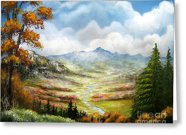 Greeting Card featuring the painting Dreamin On by Patrice Torrillo