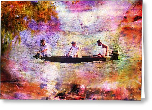 Dreaming About Fishing Greeting Card by J Larry Walker