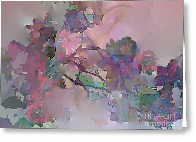 Greeting Card featuring the digital art Dreaming Of A Rose Garden by Ursula Freer