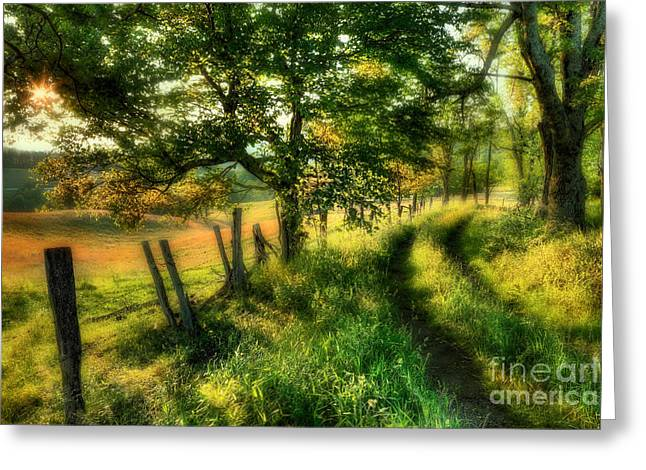 Dreaming Of Fall II - Blue Ridge Parkway Greeting Card
