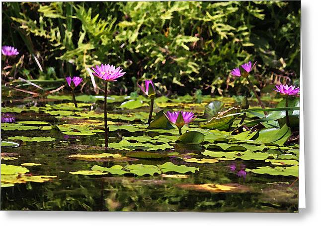 Dreaming Of Lilies In Watercolor Greeting Card