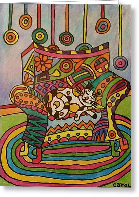 Dreaming Of Lollipops Greeting Card by Carol Hamby