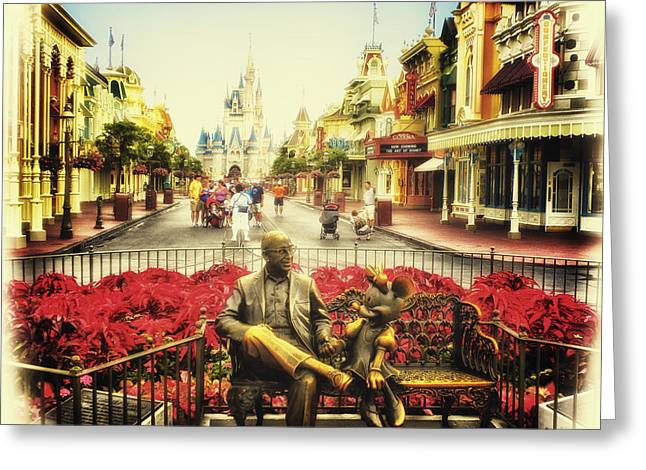 Dreaming Of Paradise Walt Disney World Greeting Card by Thomas Woolworth