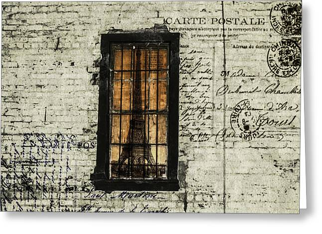 Dreaming Of Paris  Greeting Card by Steven  Taylor