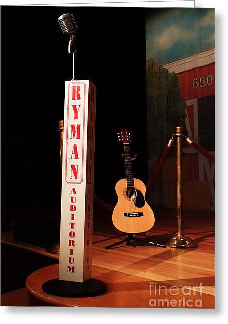 Dreaming Of Playing The Ryman Greeting Card