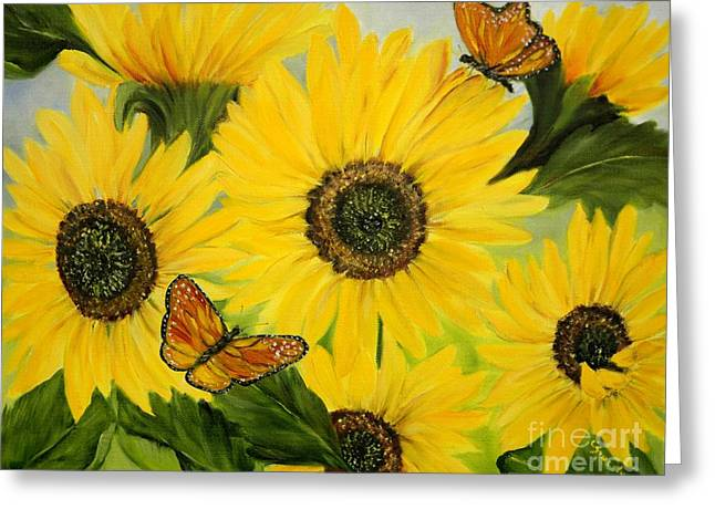 Greeting Card featuring the painting Dreaming Of Summer by Carol Sweetwood
