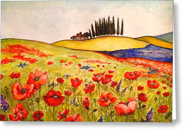 Dreaming Of Tuscany Greeting Card
