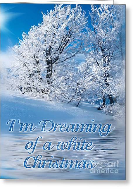 Dreaming Snow Trees Greeting Card