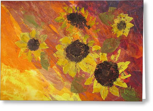Dreaming Sunflowers Greeting Card