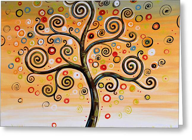 Dreaming Tree Greeting Card by Amy Giacomelli