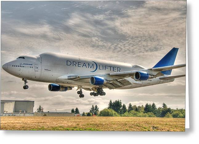 Dreamlifter Landing 1 Greeting Card by Jeff Cook