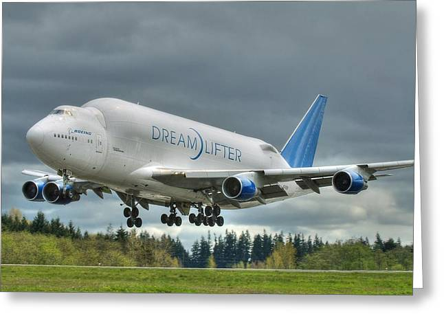 Dreamlifter Landing 2 Greeting Card by Jeff Cook