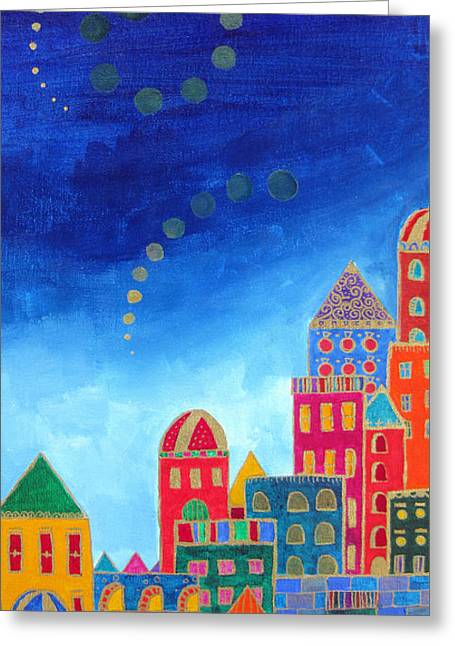 Dreams Above Jerusalem Greeting Card