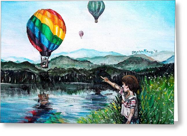 Greeting Card featuring the painting Dreams Do Come True by Shana Rowe Jackson