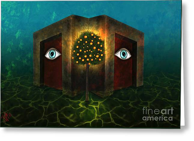 Dreams Do Not Sleep Greeting Card by Rosa Cobos