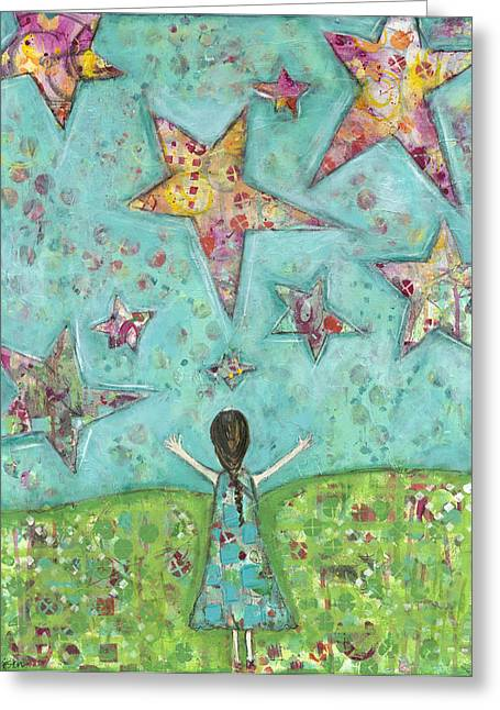 Dreams On Stars Greeting Card by Kirsten Reed