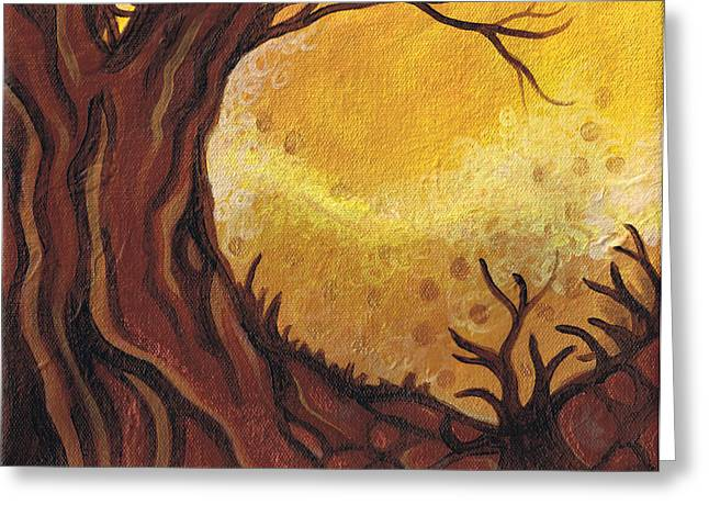 Dreamscape In Fall Tones #1 Of 4 Greeting Card by Laura Noel