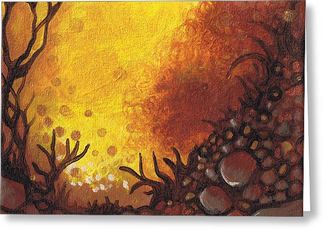 Dreamscape In Fall Tones #3 Of 4 Greeting Card by Laura Noel