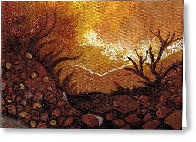 Dreamscape In Fall Tones #4 Of 4 Greeting Card by Laura Noel