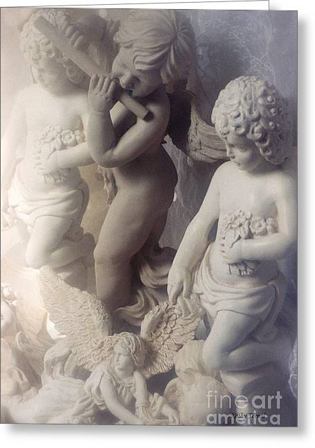 Dreamy Angel Art Cherubs And Angel Statues  Greeting Card