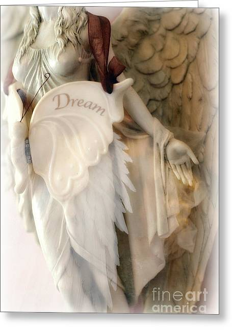 Dreamy Angel Art Photography - Ethereal Spiritual Dream Angel Wings - Inspirational Angel Art Greeting Card by Kathy Fornal
