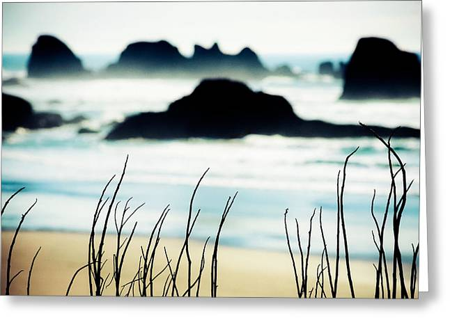 Dreamy Beach Greeting Card by Debi Bishop