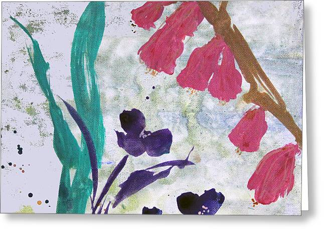 Dreamy Day Flowers Greeting Card