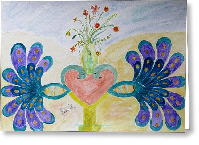Dreamy Heart Greeting Card by Sonali Gangane