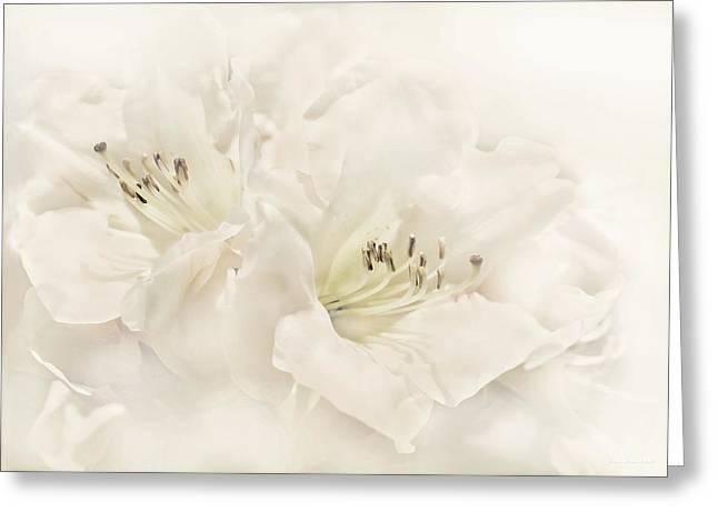Dreamy Ivory White Azalea Flowers Greeting Card