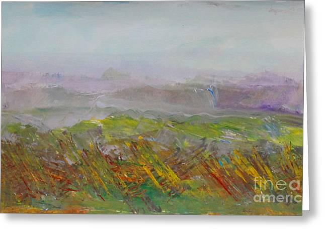 Dreamy Landscape Abstract Greeting Card by Anne Cameron Cutri