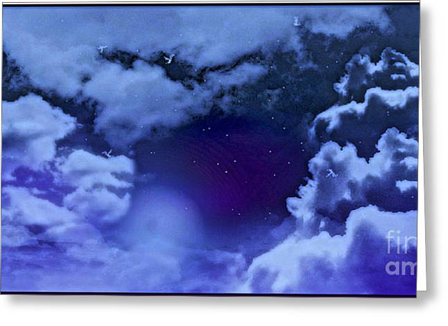 Dreamy Night Greeting Card by Sheikh Designs