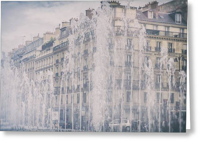 Dreamy Paris Fountains Greeting Card by Georgia Fowler
