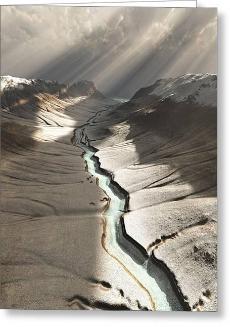 Dreamy River... Carry Me Greeting Card by Bijan Studio