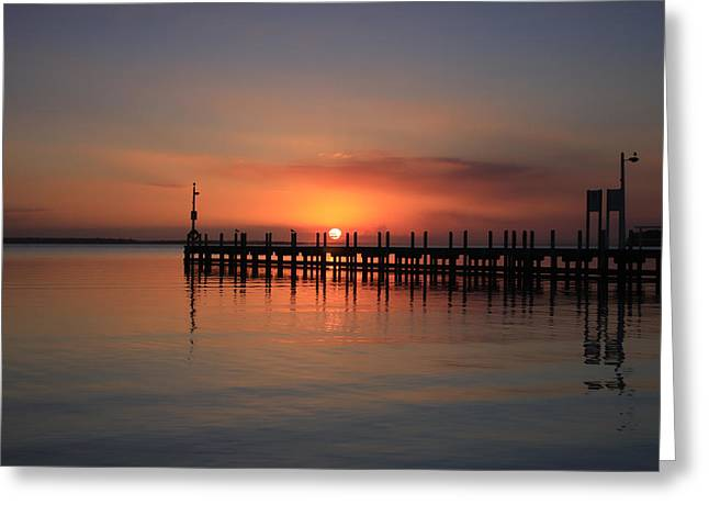 Greeting Card featuring the photograph Dreamy Sunset by Kim Andelkovic