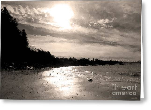 Greeting Card featuring the photograph Dreamy Tides by Arlene Sundby