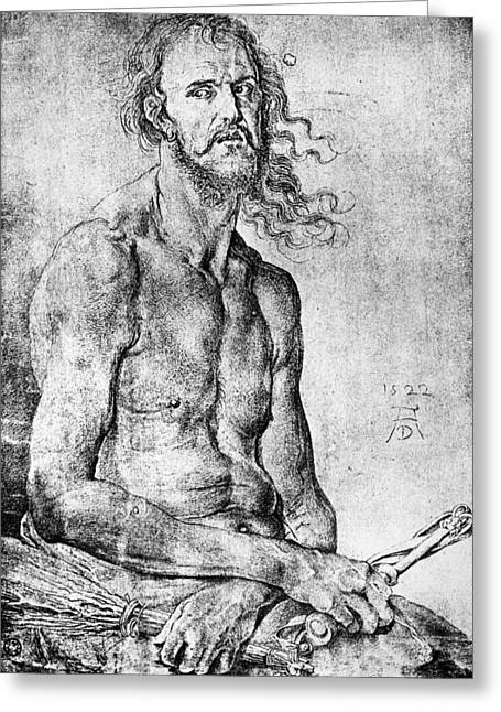 D�rer Man Of Sorrows, 1522 Greeting Card by Granger