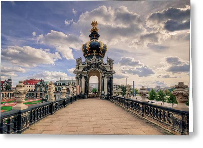 Dresden Kronentor Greeting Card by Steffen Gierok