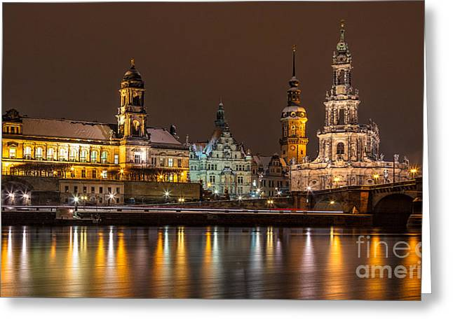 Dresden The Capital Of Saxony I Greeting Card by Bernd Laeschke