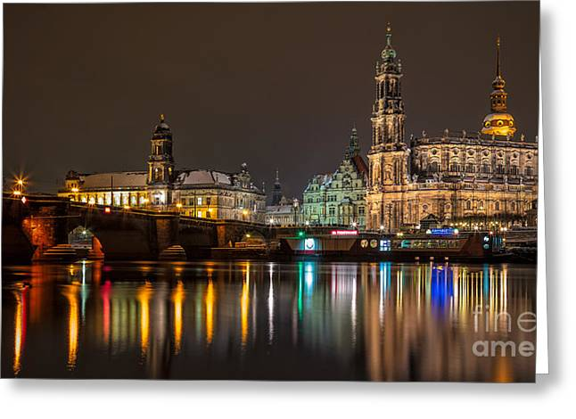 Dresden By Night Greeting Card