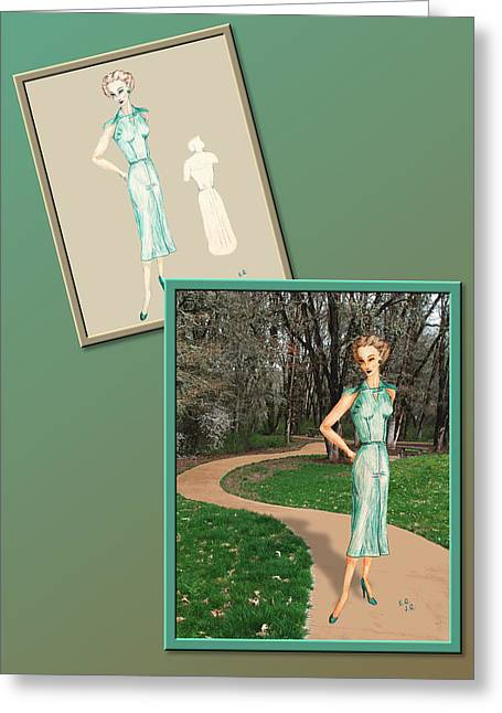 Dress Design 24 Greeting Card by Judi Quelland