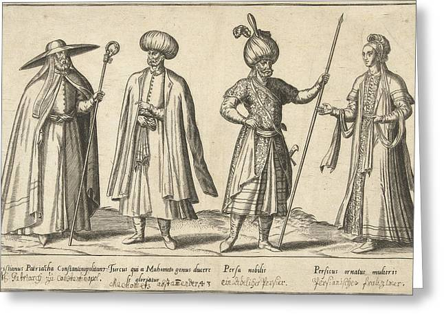 Dress Of Ottomans And Persians Around 1580 Greeting Card