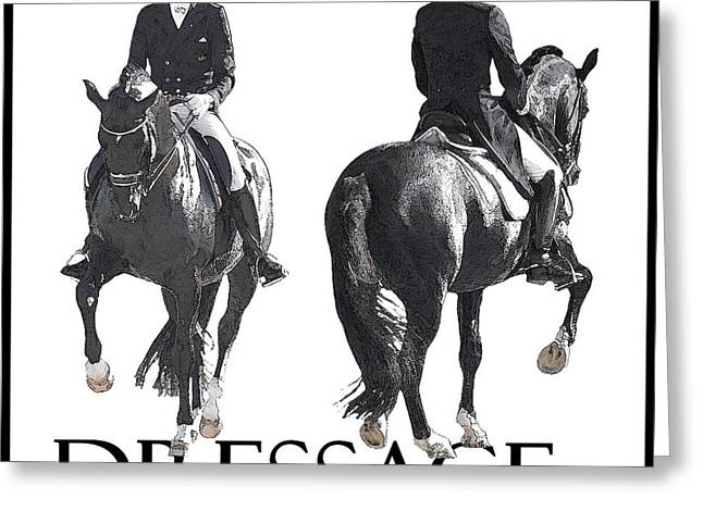 Dressage II Greeting Card