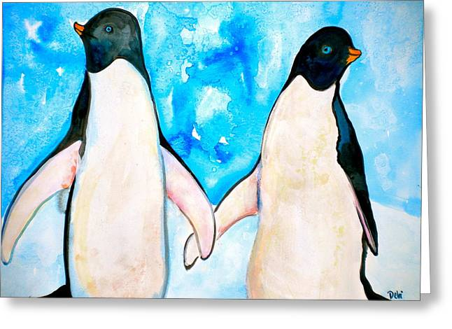 Dressed For Dinner Greeting Card by Debi Starr
