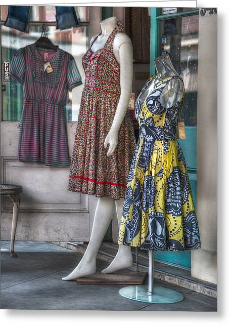Dresses For Sale Greeting Card by Brenda Bryant