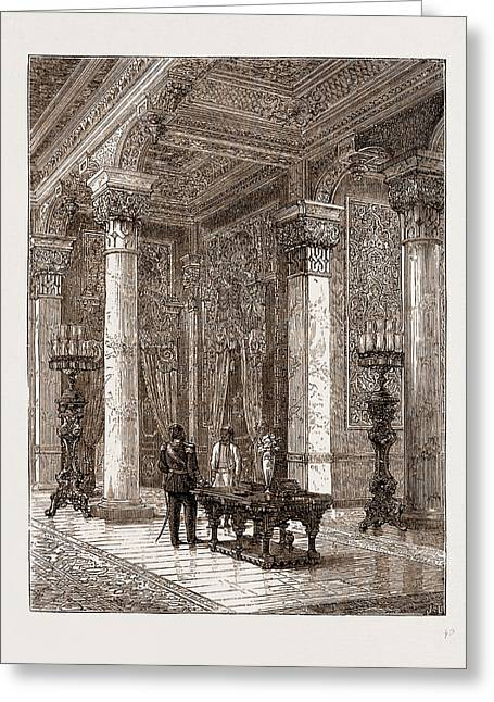 Dressing-room In The Sultans Palace At Beylerbey Greeting Card by Litz Collection