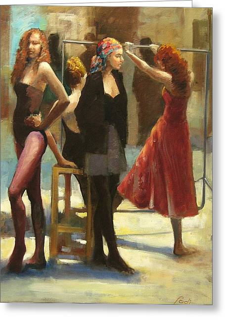Dressing Room Greeting Card by Podi Lawrence
