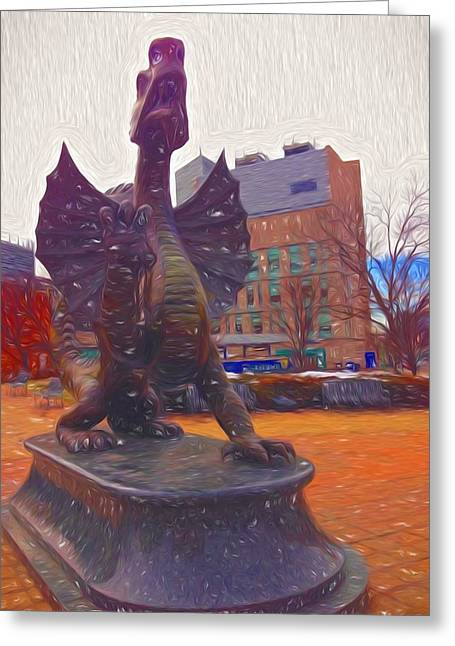 Drexel Dragon Colored Greeting Card