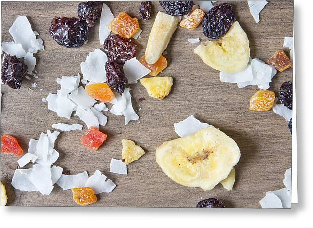 Dried Fruit Greeting Card by Tom Gowanlock